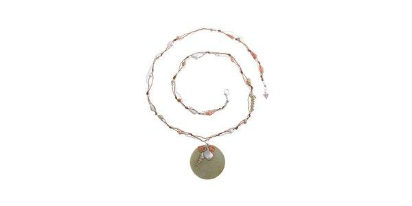 Dámský ocelový náhrdelník Guess s lasturami