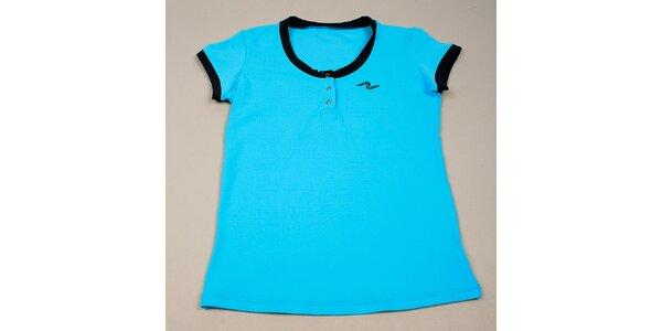 Dívčí modré tričko s černými lemy Naffta