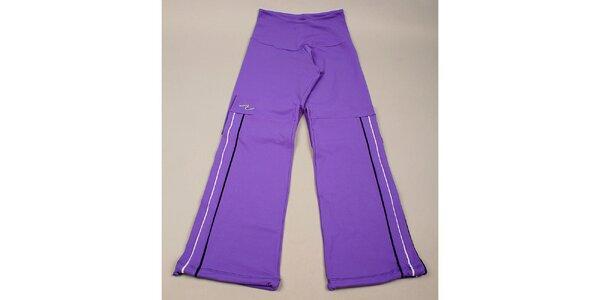 Dívčí fialové kalhoty s proužky Naffta