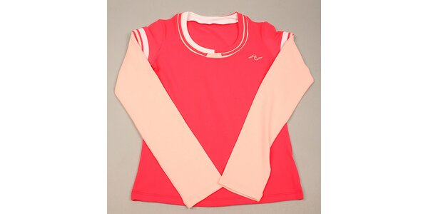 Dívčí růžové tričko s dlouhým rukávem Naffta