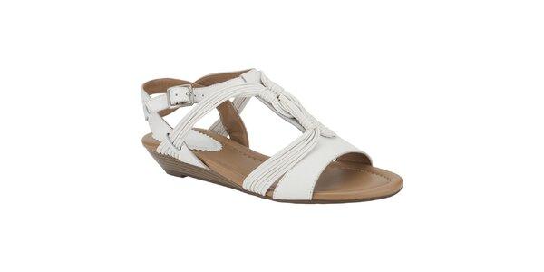 Dámské bílé sandálky s copánky Clarks