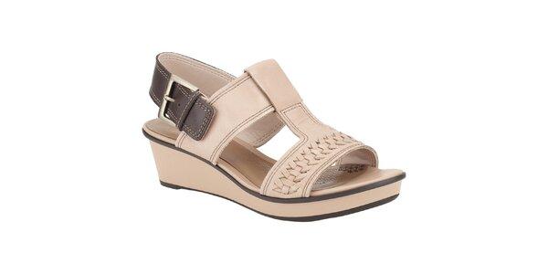 Dámské béžové sandálky Clarks