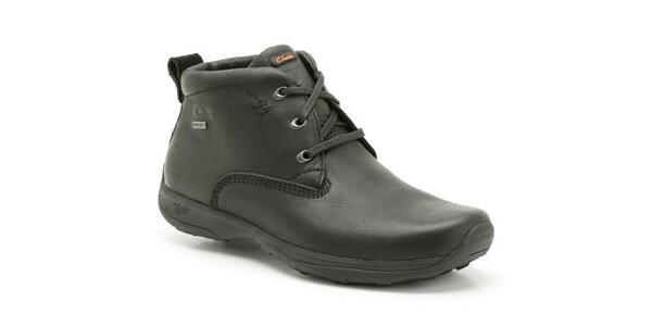 Pánské černé kotníkové boty Clarks s GTX membránou