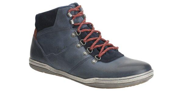 Pánské tmavě modré kotníkové boty Clarks