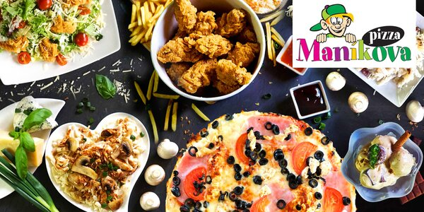 Otevřené vouchery na jídlo i pití z Maníkovy pizzy