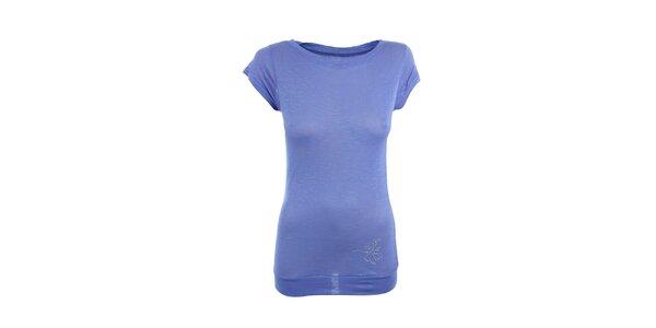 Dámské fialové tričko s malým potiskem Loap
