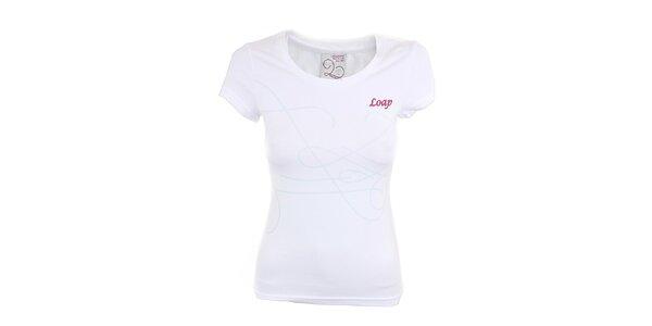 Dámské bílé tričko s potiskem Loap