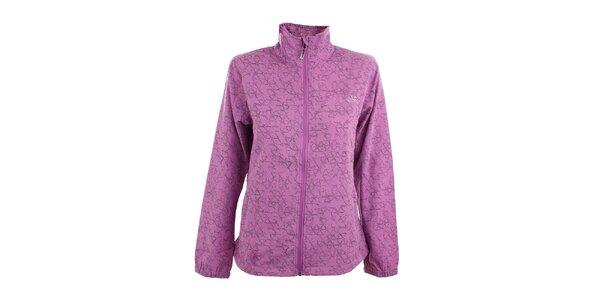 Dámská fialová softshellová bunda s potiskem Loap