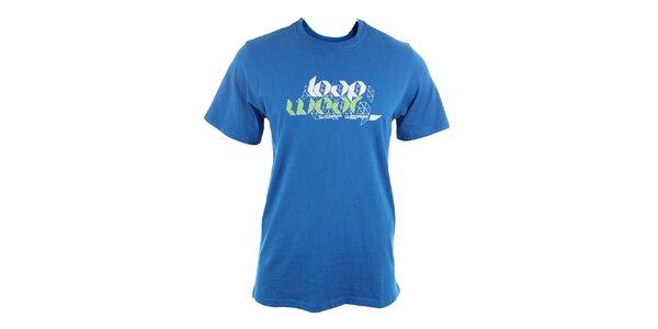 Pánské modré tričko s potiskem Loap