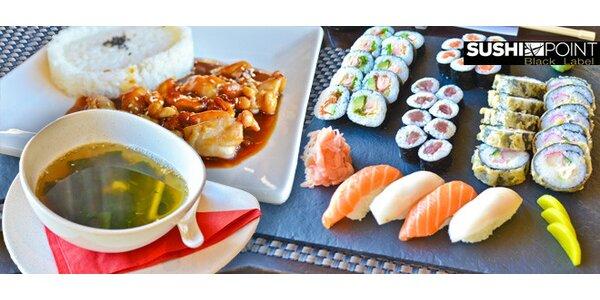 Sushi, polévky i kuřecí teriyaki v Sushi Point Black Label Dejvice