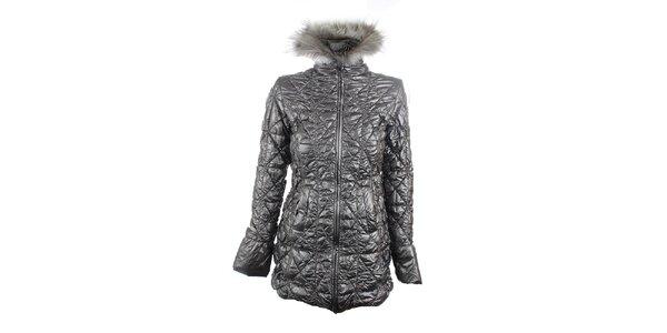 Dámský stříbrný lesklý kabát Phard