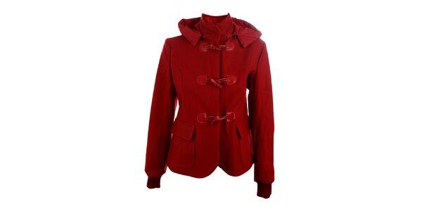 Dámský červený vlněný kabátek Phard