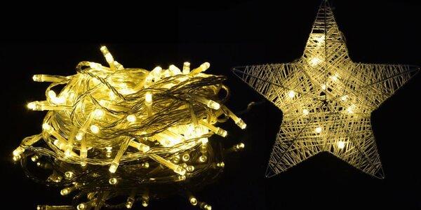 Vánoční LED osvětlení s různými efekty a časovačem