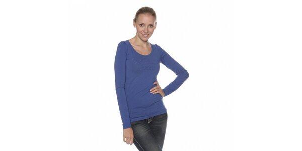 Dámské modré tričko Calvin Klein s kamínky