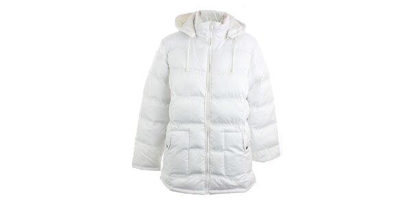 Bílý prošívaný kabát Line Collection