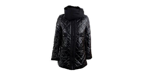 Dámská lesklá prošívaná bunda s límcem Sweet Miss