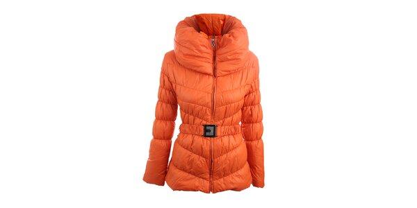 Dámská oranžová bunda s vysokým límcem Mezzo