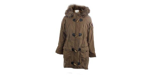 Dámský hnědý kabát Vila