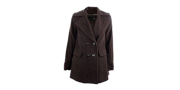 Dámský tmavě hnědý kabát Next