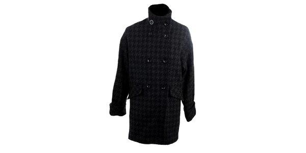 Dámský šedo-černý kabát s kohoutí stopou Next