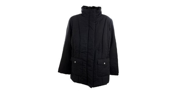 Dámský černý kabát Ikebana