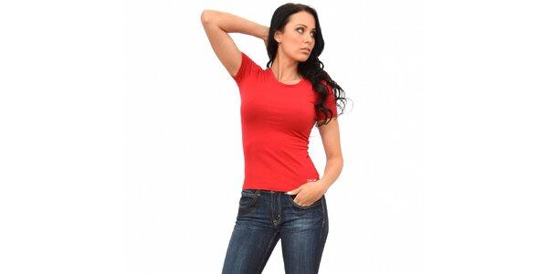 Dámské červené tričko Calvin Klein