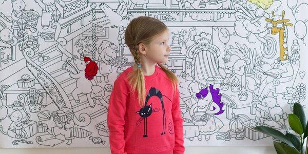 Obří omalovánky se sponkami na zeď: 5 motivů