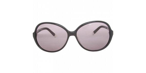 Dámské černé sluneční brýle Calvin Klein s fialovými skly