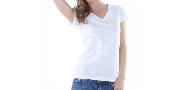 Dámské bílé tričko Calvin Klein s potiskem