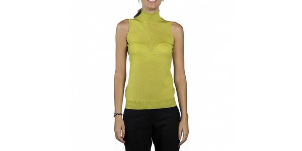 Dámský limetkový top Calvin Klein