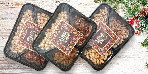 Dárkové sety směsí arašídů, kešu, mandlí i rozinek