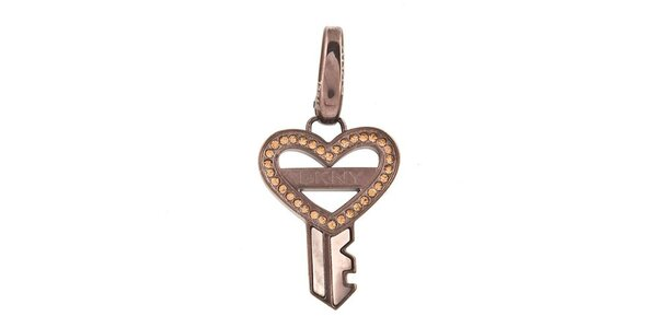 Dámský ocelový přívěsek v podobě klíčku DKNY