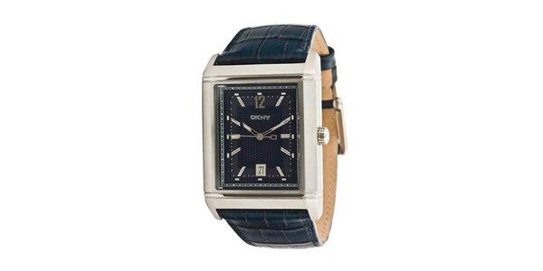 Pánské analogové hodinky s tmavě modrým náramkem DKNY