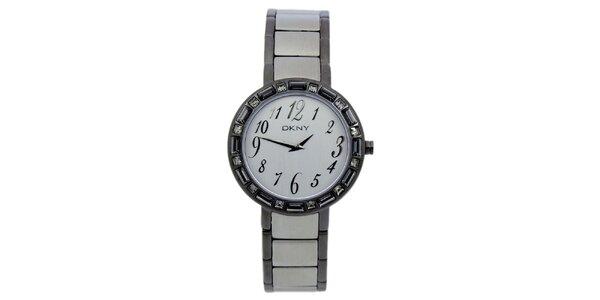 Dámské náramkové hodinky s krystaly DKNY