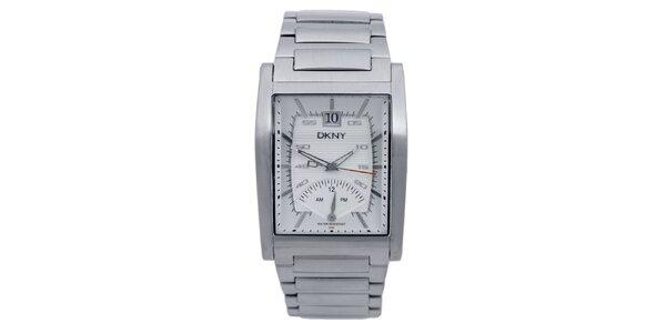 Dámské stříbrně tónované náramkové hodinky DKNY