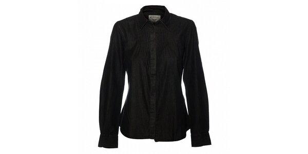 Dámská černá džínová košile Bushman
