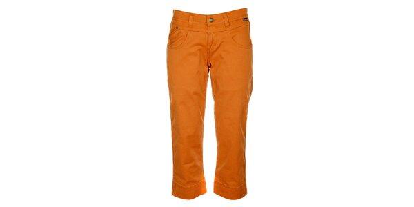 Dámské oranžové capri kalhoty Bushman