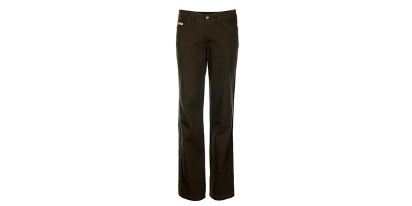 Dámské tmavě hnědé džíny Bushman