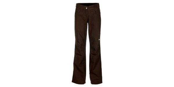 Dámské tmavě hnědé kalhoty Bushman