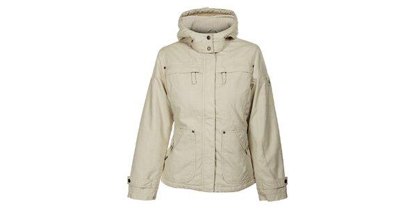 Dámská krémová zimní bunda Bushman