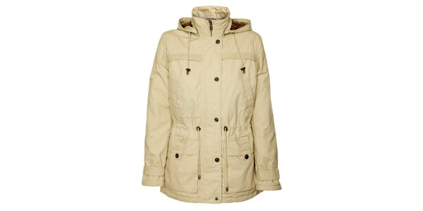 Dámský krémový jarní kabátek Bushman