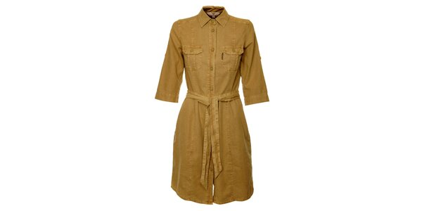 Dámské světle hnědé šaty Bushman