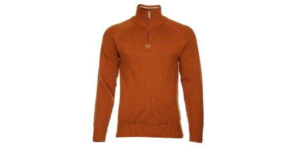 Pánský oranžový svetr Bushman se stojáčkem