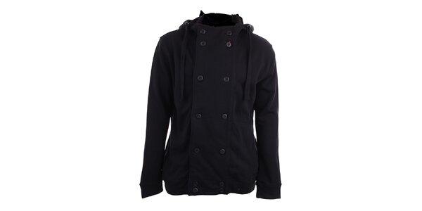 Pánská černá kabátová mikina s kapucí Timeout