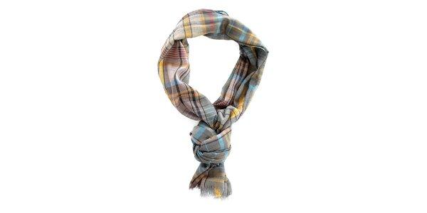 Pánský kostkovaný šátek v podzimních barvách Timeout