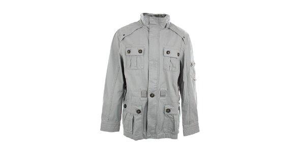 Pánská šedá bunda se stojáčkem Timeout