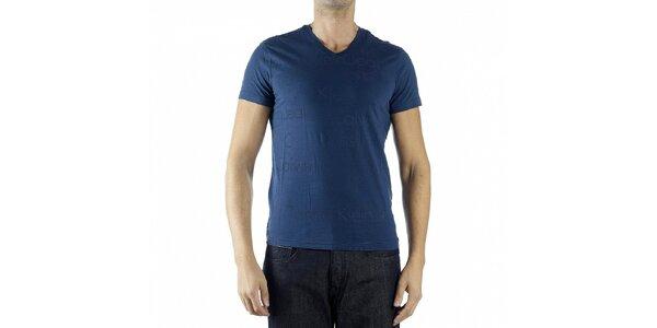 Pánské tmavě modré tričko Calvin Klein s potiskem