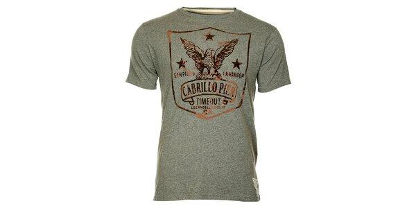 Šedé pánské tričko Timeout