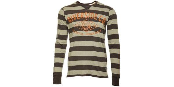 Pruhované pánské tričko Timeout s dlouhým rukávem