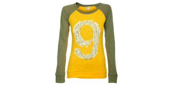 Dámské žluto-zelené tričko Timeout s dlouhým rukávem
